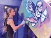 Live art creation was part of the entertainment at this year's event