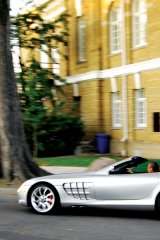"""Jim Williams takes his Mercedez-Benz SLR McLaren for a cruise around his neighbourhood. """"If I had to have only one car, it would be the SLR McLaren convertible..."""""""