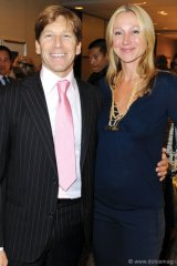 Cosmetic plastic surgeon Dr. Trevor Born and Belinda Stronach.