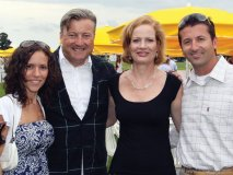Dolce Publishing Inc.'s director of marketing Angela Palmieri, host Justin R. Fogarty, his wife, Astrid Fogarty, and Fernando Zerillo, co-founder of Dolce Publishing Inc.