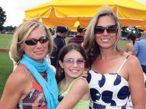 Shelly Suter with her daughter Justine and Connie Wells.