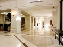 The sweeping lobby of St. Gabriel Village sets the stage of luxury living at its best.