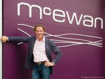Mark McEwan stands proudly alongside one of his latest creations, a gourmet grocery store outfitted with fine dining service – minus the designer price tag.