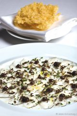A delectable dish created by Claude Bosi at Hibiscus restaurant in London.
