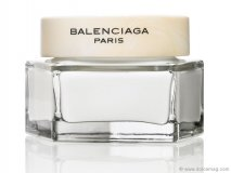 Experience luxury with Balenciaga Paris's scented body lotion, wrapped in a luxurious black and white encasement.