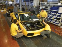 There's nothing less than meticulous when it comes to building a Lamborghini. Every step involves hand assembly and scrupulous inspection.