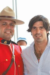 Canadian Mountie with Ralph Lauren model and polo player Nachos Figueras