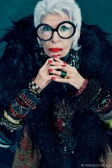 """Known as the rare bird of fashion, former Dolce cover girl Iris Apfel is Mac's latest muse. Her extraordinary flair is captured in the """"Open Armoire"""" collection, which features eclectic hues that shy away from the neutral."""