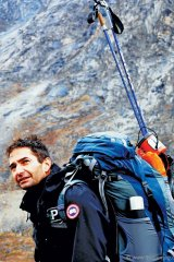 Baffin Island Expedition, 2009. Zahab takes a moment to enjoy the beautiful scenery in the heart of Canada's Arctic. Five Youth Ambassadors were selected for a week-long trek through sweeping glaciers, polar ice and jagged granite mountains.