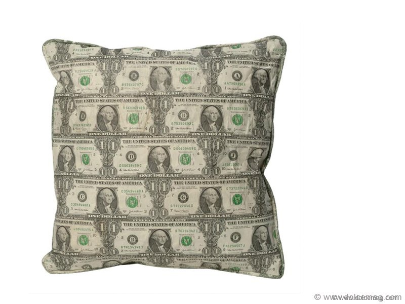 If you find comfort in cash, this pillow is for you. Handmade using roughly 50 American greenbacks, the Dollar Pillow will provide solace even when the economy doesn't.