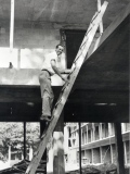 The builder on the job, at the first Four Seasons on Jarvis Street, Toronto. (Photo courtesy of Four Seasons Hotels & Resorts)