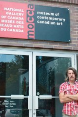 David Liss, Artistic director and curator, stands outside of the Museum of Contemporary Canadian Art (MOCCA)
