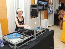 The vibe was festive as DJs spun tracks inside South Beach's landmark Raleigh Hotel.
