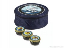FROM RUSSIA WITH LOVE - Give the gift of elegance with this luxe assortment of Petrossian caviars.  www.saksfifthavenue.com