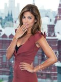 Eva Mendes keeps warm at the Russian premiere of The Other Guys with Le Vian stackable bangles and ring.