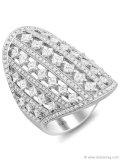 Carry a cascade of diamonds wherever you go with the luxurious Demarco 18-karat White Gold Diamond Ring. www.demarcojewelry.com Photography Courtesy Of D'Orazio & Associates