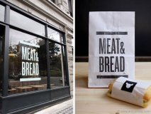 Vancouver's Meat & Bread's name says it all. This down-to-earth sandwich shop doesn't mince words about its simple yet scrumptious fare, and its packaging reflects that attitude. Designed by Glasfurd & Walker, the clean, minimal esthetic accents the shop's masculine vibe and fundamental approach to food. www.meatandbread.ca