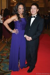 Book Lover's Ball host Tracy Moore of Cityline and author Vincent Lam