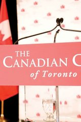 Target Canada at a Canadian Club of Toronto event