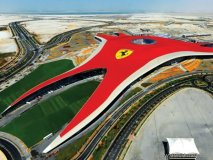 With the world's biggest Ferrari logo detailed on a 200,000 square metre roof, this colossal shrine to the Ferrari name is the largest indoor amusement park on the planet.