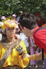 nathan lane and vietnam child entertainer vietnamese new year