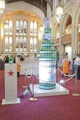 co-sponsors pellegrino provides an eye catching display at the celebration