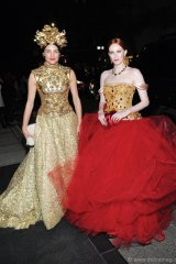 Tabitha Simmons and Karen Elson