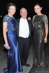 Diana Taylor, Michael Bloomberg and Georgina Bloomberg