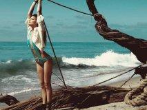 Supermodel Cameron Russell, Beach Bunny Swimwear