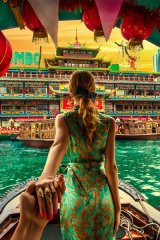The Osmanns head toward Jumbo Kingdom, a floating restaurant in Hong Kong, which Murad claims is one of the couple's favourite cities