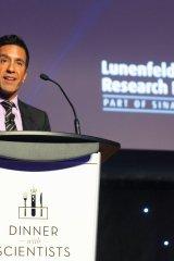 Celebrated neurosurgeon Dr. Sanjay Gupta addresses the crowd