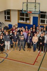 A group shot of this year's Sleep Out participants