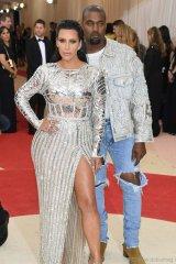 Kim Kardashian and Kanye West in Balmain