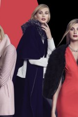 Clockwise from left: This fall at Andrews, local brand Sentaler wows with gorgeous wrap jackets, Mackage brings back femme fatale with dark and rich accents and Greta Constantine oozes femininity andrew