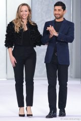Founders Tamara Ralph and Michael Russo of haute couture label Ralph & Russo celebrate yet another successful collection with their fall-winter 2016-17 show at Paris Fashion Week