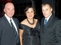 Joseph Basmaji, president of Boutique Jacob, accompanied by his wife, Odette Basmaji, owner and vice president of Division, Corporate Responsibility Boutique Jacob; Pierre Schedleur, president and CEO of Société générale de financement du Québec and longtime partner of the Canadian Red Cross.