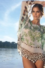 Sunbathe in the soft touch of Aguaclara's silk cover-up.