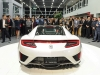 The new 2017 Acura NSX also made its debut at the event