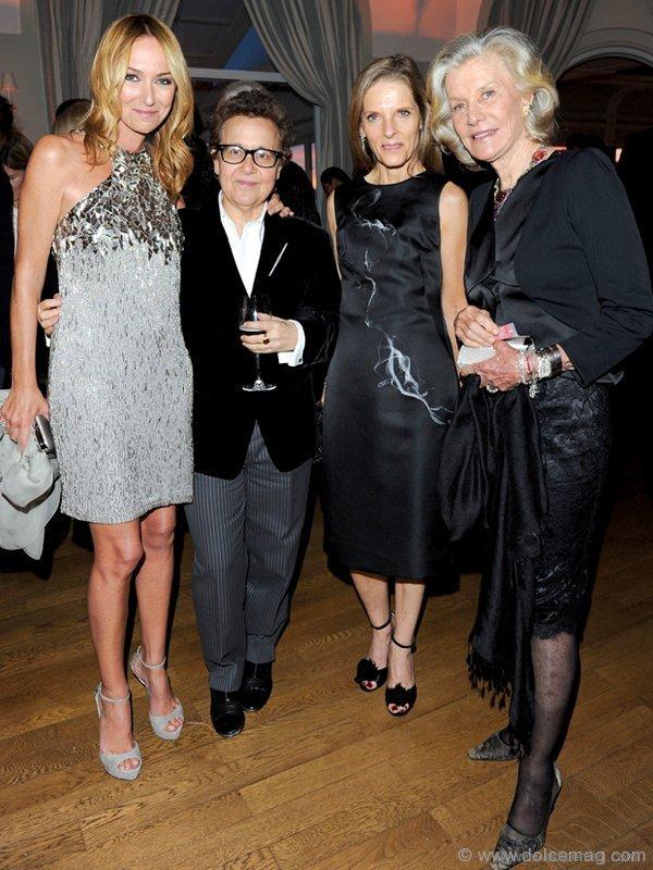 Gucci Creative Director Frida Giannini, Ingrid Sischy, Sandra Brant and Marina Cicogna