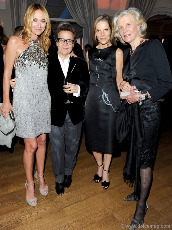 Gucci Creative Director Frida Giannini, Ingrid Sischy, Sandra Brant and Marina Cicogna