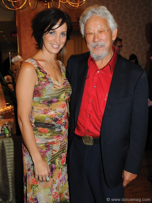 Singer/songwriter Chantal Kreviazuk and David Suzuki