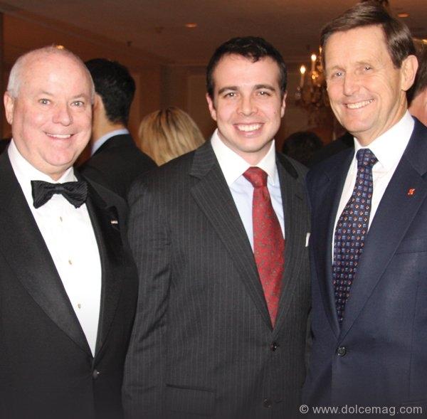 Garrett Herman, Dr. Steven Kerfoot (award recipient) and Rick Waugh.