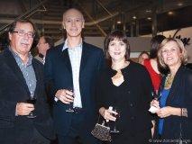 Dan Hyde (senior manager, Retail Division at Orlando Corporation) Murray Millar, Doris Baughan and Rita Hyde smile for the camera