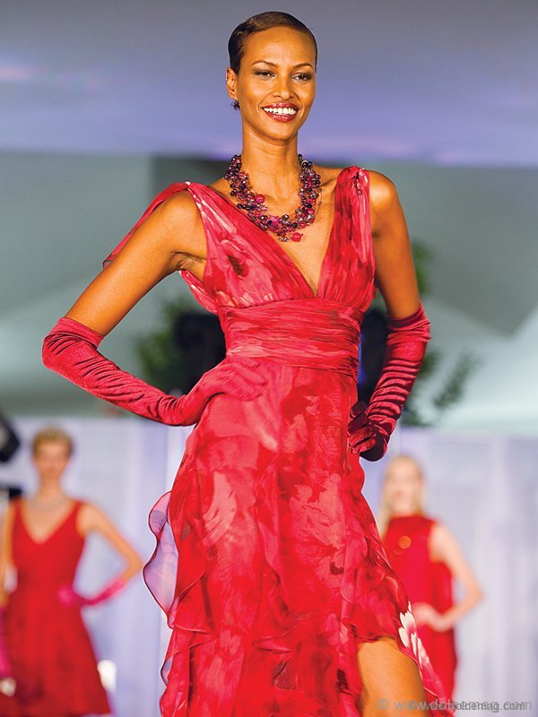 Somali-Canadian model/activist Yasmin Warsame strikes a pose