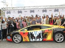 Rally for Kids with Cancer celebrities and drivers.