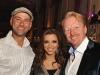 . TV host Leo Stakos, Eva Longoria Parker, Oliver Bock, CEO of Solutions 2 GO Inc.
