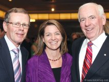 John Hunkin (former CEO of CIBC), MP Martha Hall Findlay and Charles Coffey
