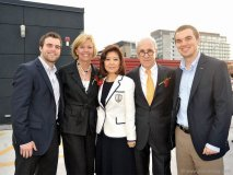 Galen Flaherty, Christine Elliott, Helen Ching-Kircher and Peter A. Kircher, and Quinn Flaherty.