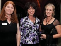 Kimberly Tait (associate curator, mineralogy at the ROM), Dianne Lister (president and executive director, ROM board of governors) and Catherine Beckett, Rock of Ages gala organizing committee member
