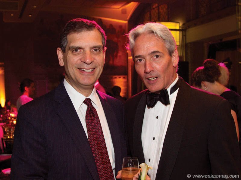 Sal Badali (chair, ROM Board of Trustees) with Bill Simmons (U of T assistant vice president, university development)